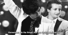Green Day after winning the best Rock video, Boulevard Of Broken Dreams [2005]