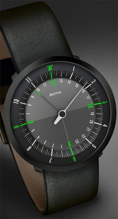 Botta Duo Green Black Edition Leather | Free Worldwide Shipping from Watchismo