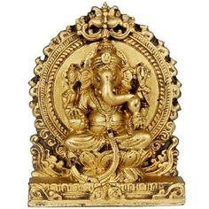 Antique finish Ganesh idol