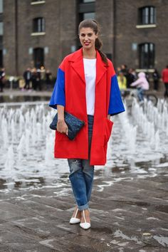Thankfifi- #LFW Day 3-17 My favourite colour blocking from my pal @Wendy Felts @Wendy @thankfifi beautiful red white and blue!
