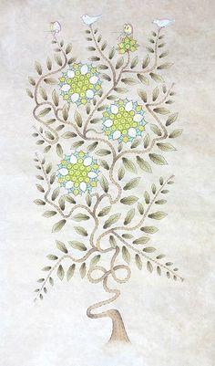 Korean Traditional, Traditional Design, Korean Art, Paper Art, Diy And Crafts, Artsy, Cushions, Concept, Watercolor