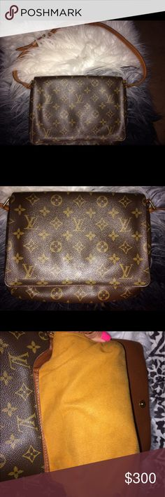 100% authentic Louis Vuitton mussette tango 100% authentic Louis Vuitton mussette tango. One place on the piping, ink spill on the interior which I've been cleaning and has came out some. Straps in excellent condition. No rips, holes or tears. Any questions just ask. Reasonable offers will be considered. Louis Vuitton Bags Shoulder Bags