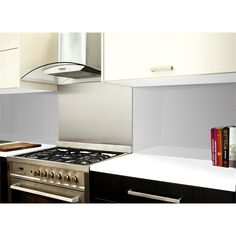 Highgrove 1000 x 575 x 6mm Silver Metal Glass Splashback
