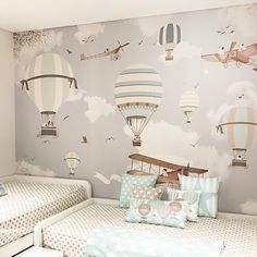 Nursery wallpaper ideas wallpaper for baby boy room we just need to know the measure of Baby Bedroom, Baby Boy Rooms, Nursery Room, Kids Bedroom, Boys Room Wallpaper, Nursery Wallpaper, Wallpaper Ideas, Camera Wallpaper, Little Hands Wallpaper