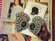 Soutache  Pink Turquoise and Light Blue with Matte by tyramade