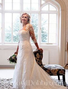 As these real brides show, you can still wear a white wedding dress AND look fabulous if you're a mature bride. Wedding Dresses Photos, White Wedding Dresses, Boho Wedding Dress, Wedding Gowns, Wedding Hair, Older Bride Dresses, Champagne Lace Dresses, Contemporary Dresses, Pink Gowns