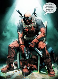 Wade Winston Wilson who also go with the name Deadpool is a fictional character appearing in comic books published by Marvel. A mercenary and anti-hero, Deadpoo Marvel Dc Comics, Marvel Vs, Marvel Heroes, Comic Book Characters, Marvel Characters, Comic Character, Comic Books Art, Xman Marvel, Deadpool Y Spiderman