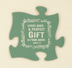PUZZLE PIECES PERFECT GIFT JAMES 1:17  Connect Different Wall Mount Puzzle Pieces Including Photo Frames Available on American Christian Gift www.AmericanChristianGift.com