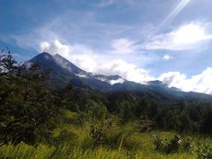 Merapi volcano view