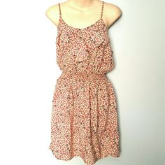 Forever 21 Floral Dress Excellent condition. Gathered waist. Ruffled chest. Fast shipping. Reasonable offers considered. Thank you for shopping my closet! Xoxo Forever 21 Dresses Midi