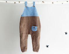 Dans l'ensemble, tricot bébé Onepiece tricotés à la main, tricoté main Babysuit
