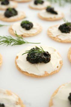 Black Caviar Appetizer