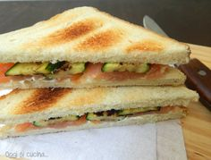 Sandwich zucchine e salmone