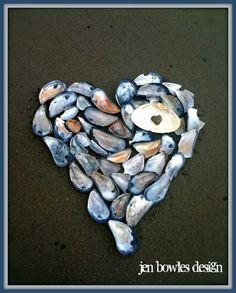 Heart Shell Art (hey look, it rhymes)