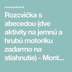 Gross Motor Activities, Montessori Activities, Kindergarten, Preschool, Education, Blog, Autumn, Life, Decor