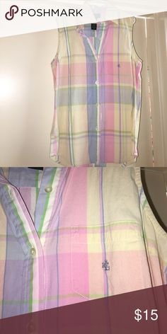 Ralph Lauren polo Pastel colors great condition Polo by Ralph Lauren Tops Button Down Shirts