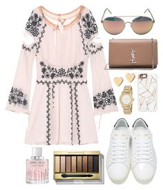 """"""""""" by biancamarie17 on Polyvore featuring For Love & Lemons, Quay, Yves Saint Laurent, Casetify, Lipsy, DKNY, Max Factor and Jimmy Choo"""