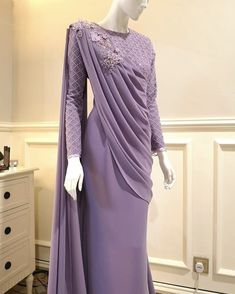 Hijab Gown, Hijab Evening Dress, Hijab Dress Party, Evening Dresses, Saree With Hijab, Muslimah Wedding Dress, Muslim Wedding Dresses, Muslim Dress, Dress Brokat