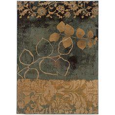 Oriental Weavers Infinity 1133B Beige/Blue Abstract Area Rug