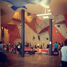 Coolest rock climbing gym ever. Rock Climbing Gym, Indoor Climbing, Climbing Wall, Building Renovation, Cool Rocks, Awesome Things, Bouldering, Travel Around