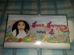 customized chocolate bar for party favors