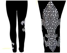 Plus Size Full-Length Leggings Embellished by BlingBlingFashions