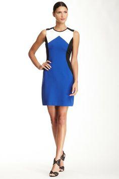 Sandra Darren Geometric Colorblock Dress by Non Specific on @HauteLook