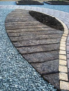 Railway Sleepers + Loose Metal and Pavers
