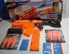 Nerf elite demolisher 2 in 1 darts missles included  extra 18 round clip NIOB #NERF