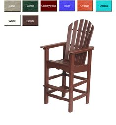 Outdoor Poly Furniture: Shoreline ADBS Bar Height Dining-Deck Chair | OutdoorPolyFurniture.com