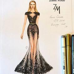 New Ideas For Embroidery Fashion Illustration Beautiful Dress Design Sketches, Fashion Design Sketchbook, Fashion Design Drawings, Fashion Sketches, Dress Designs, Croquis Fashion, Sketch Design, Design Art, Design Ideas