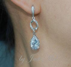 Wedding Earrings Bridesmaid Earrings Bridal Jewelry  by justmel, $43.99