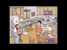 In the Kitchen vocabulary video with English audio - Learning English with videos and pictures