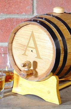 Personalized barrel: love these for weddings & parties