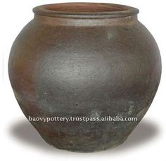 AAF Large black clay pot- Tall dark clay pot- Giant Outdoor Pots, View large outdoor pot, Bao Vy Pottery Co., Ltd Product Details from BAO V...