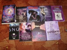 My violet books! :)