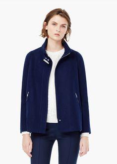 Cappotto lana zip -  Donna   MANGO