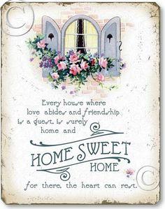 Vintage Home Sweet Home Sign