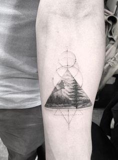 Dr. Woo Tattoo Artist | Half Needle Tattoo | Landscape