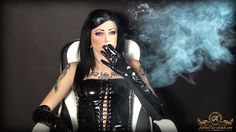 Loren Smoking in PVC! ;)