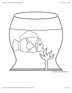 Sea Life Coloring Page With A Picture Of A Large Clown Fish To