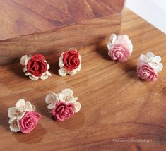 wedding/Bridesmaid Jewelry - crochet accessories by HanaCrochetDesign Diy Crochet Rose, Crochet Puff Flower, Unique Crochet, Crochet Flower Patterns, Tatting Patterns, Crochet Flowers, Bridesmaid Accessories, Bridesmaid Jewelry, Bridesmaid Gifts