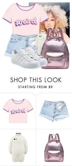 """""""weird"""" by awesomeblossom23 ❤ liked on Polyvore featuring adidas Originals"""