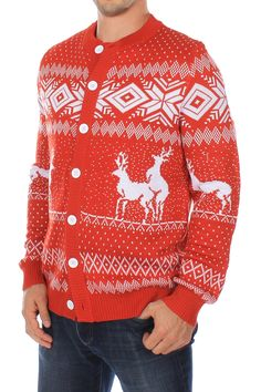 5fca97c9a Men s Reindeer Climax Sweater Ugly Christmas Sweater by Tipsy Elves ...