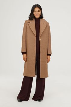 Wool Coat - Beige - Ladies | H&M US 1