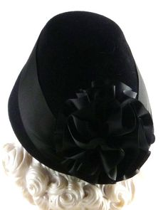 Art Deco 1930s Most Popular Hat of 1935 Black Velour by HatArtists, $500.00