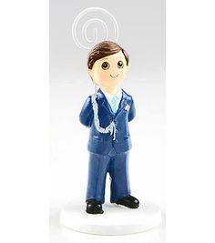 Figura tarta niño Comunión con traje y balón de fútbol. Figura para ... 30961cb51f5de