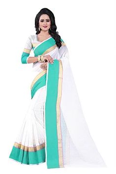 2dc512edcb6dad J B Fashion Women s Manipuram Saree With Blouse Piece (Mp-01-Rama Rama)