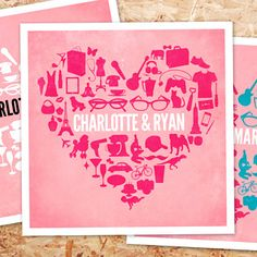 Personalised Heart Poster at Firebox.com,  £19.99