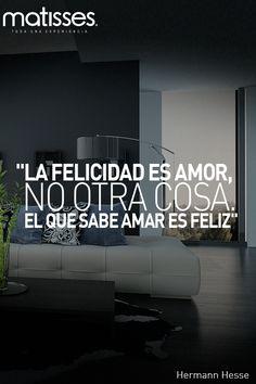 """#FraseDelDía: """"La felicidad es amor, no otra cosa. El que sabe amar es feliz""""…"""